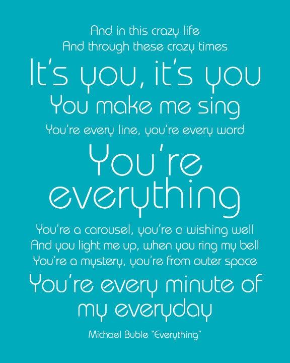 YOUR Custom Song Lyrics Print Gift For Boyfriend Girlfriend YOUR So