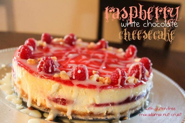 raspberry white chocolate cheesecake (with gluten-free macadamia nut ...
