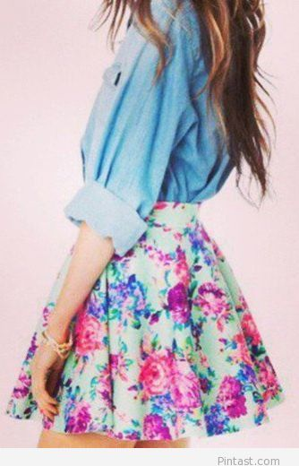 Floral and chambray