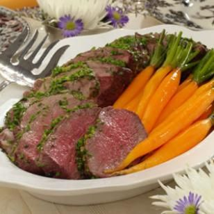 Bistro Beef Tenderloin Recipe via @EatingWell Magazine