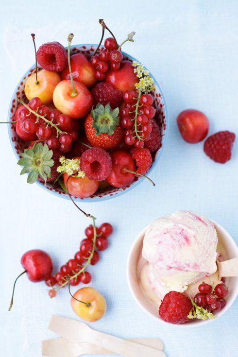 ... & drink - food - dessert - red currant and raspberry swirl ice cream