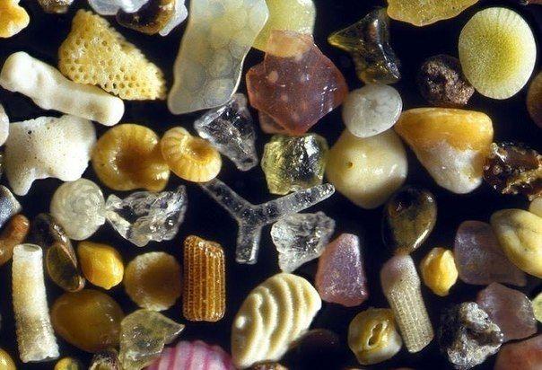 Sand, under a 250x microscope