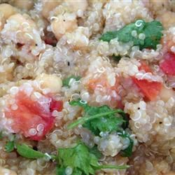 ... over the holidays! Quinoa with Chickpeas and Tomatoes Allrecipes.com