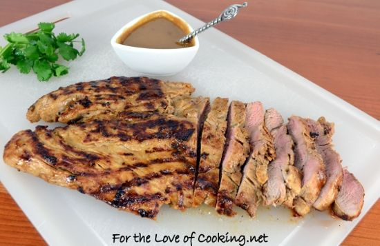 Grilled Asian Pork Tenderloin with Peanut Sauce | by Pam | on For the ...