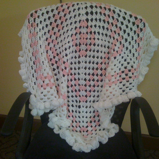 Crocheting Edges On Baby Blankets : Crochet baby blanket with ruffle edging Baby & toddler and kids Cro ...