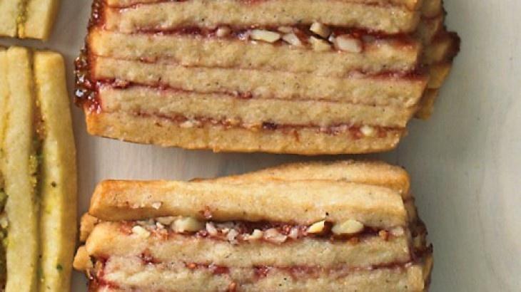 Raspberry-Almond Layered Icebox Cookies martha stewart
