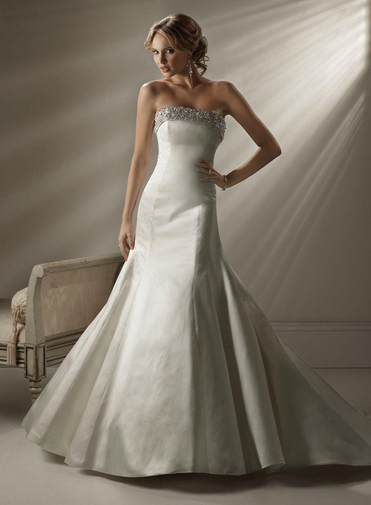 ... sans bretelles robe de mariée en satin - Robes de Mariage Boutique