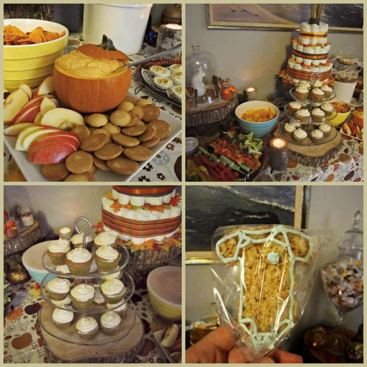 fall theme baby shower party time pinterest