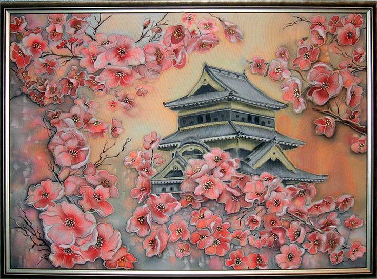 Картины своими руками сакура 53
