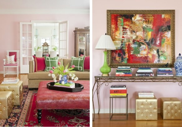 Living room pink gold ideas for decorating pinterest - Pink and gold living room ...