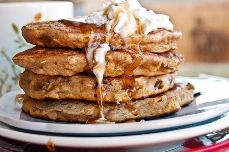Oatmeal Raisin Cookie Pancakes | Pancakes | Pinterest