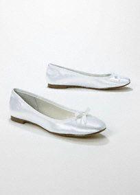 Wedding Amp Bridesmaid Shoes Dyeable Satin Ballet Flat Style TORY