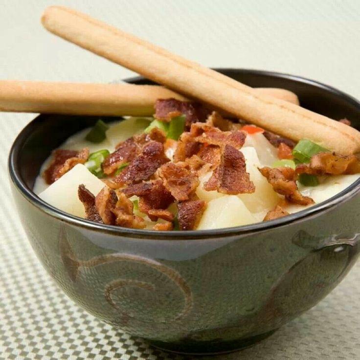 Bacon potato soup | Soups | Pinterest