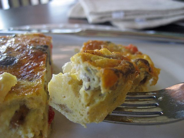 Chorizo and Goat Cheese Frittata | My kind of food. | Pinterest