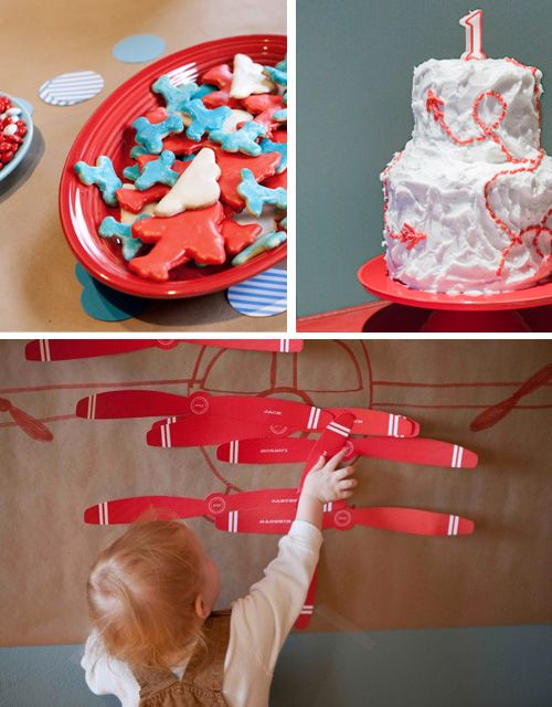 Airplane-themed Birthday party  Ideas for baby  Pinterest