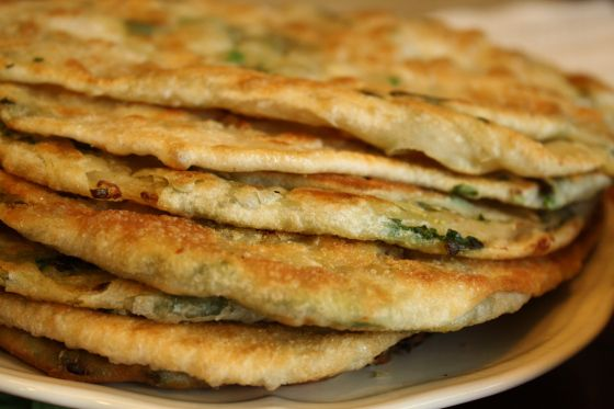 Chinese Green Onion Pancake | Oriental (of all kinds) | Pinterest