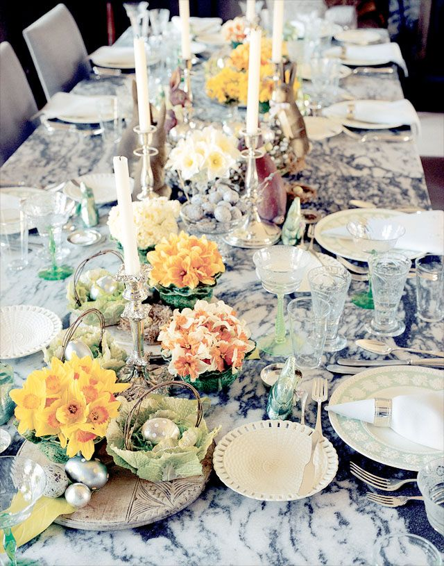 Martha Stewart Shares Her Easter Entertaining Tips // Easter Party Table