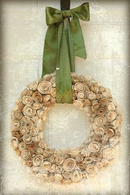 book wreath!