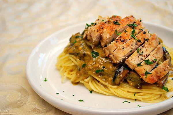Chicken with Pesto Mushroom Cream Sauce by ItsJoelen, via Flickr. One ...