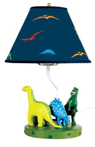 Dinosaur lamp by Bobble Art. Andy could add Caveman sculpture figurine ...