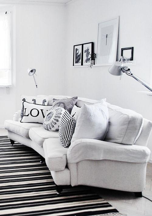 Decoração preto e branco. Você gostou?