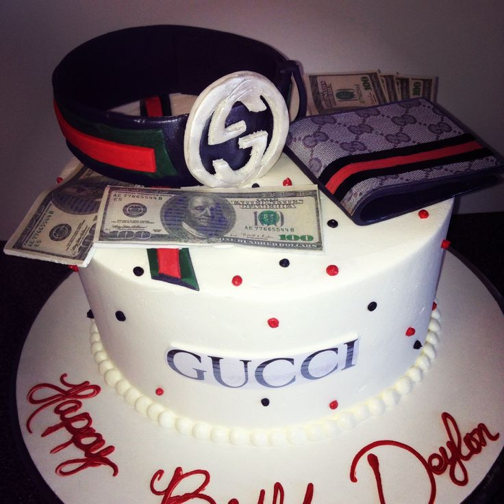 Pictures Of Cake For Guys : Gucci cake Cuffs cakes Pinterest