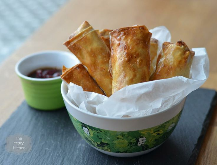 Turkey Spring Rolls with Cranberry Dipping Sauce #Thanksgiving # ...
