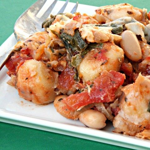 Gnocchi with Chard and White Beans -- all in one skillet, Meatless ...