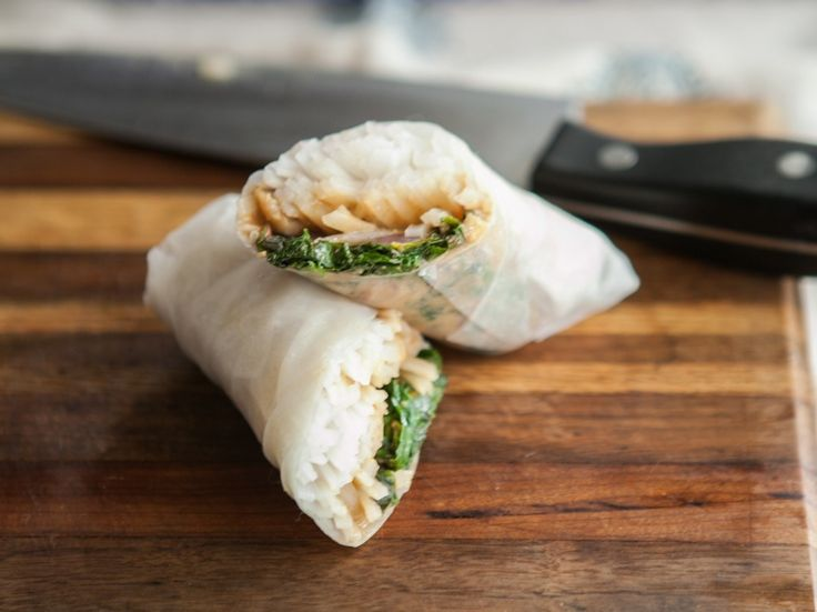 Gojee - Swiss Chard and Spicy Peanut Sauce Spring Rolls by Naturally ...