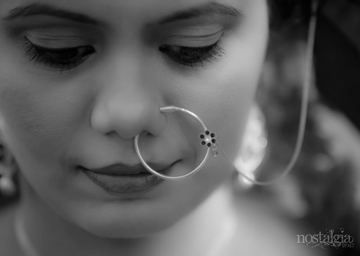 simple but lovely nose ring design wedding