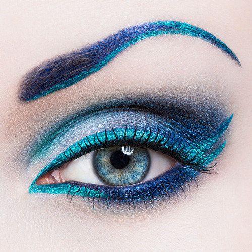 Lotsa blues #makeup