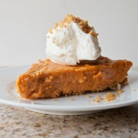 Frozen Pumpkin Mousse Pie. The perfect lightened up and gluten free ...
