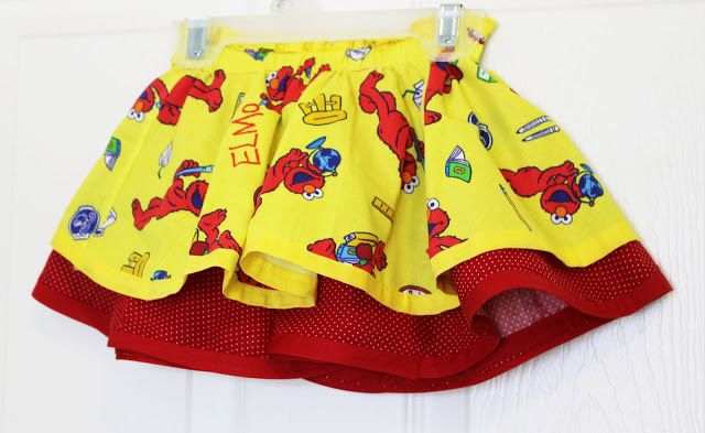 Double Layer Circle Elmo Skirt | sewing | Pinterest
