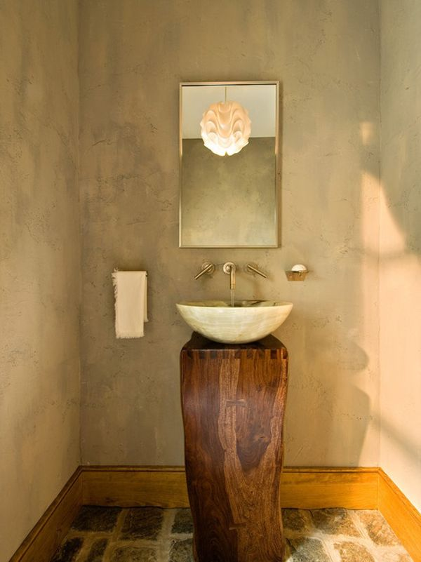 Unique Bathroom Pedestal Sinks Ideas What A Unique Twist On A Pedestal Sink For The Home Pinterest