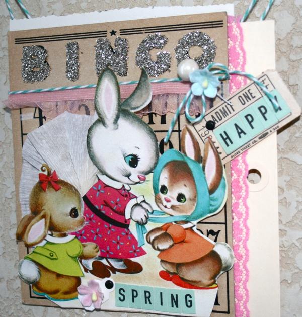 Wall hanging using Vintage Easter Kit