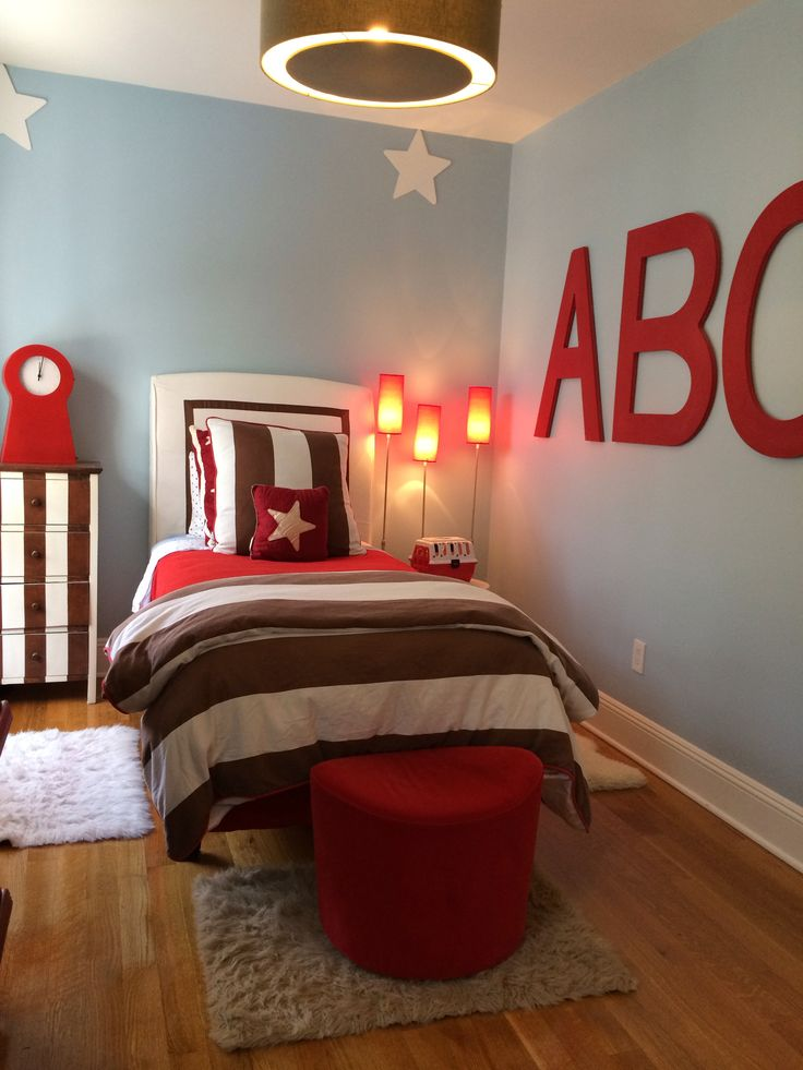 Blue red and brown boys bedroom boys and their bedrooms - Blue and red boys bedroom ...