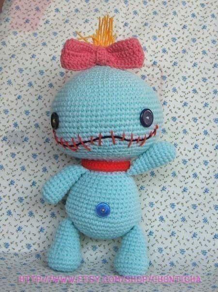 Free Amigurumi Scrump Pattern : SCRUMP 12.5 inches - PDF amigurumi crochet pattern