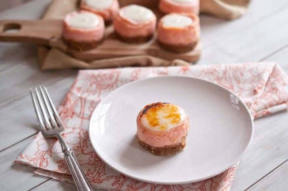 Bruleed Blood Orange and Ricotta Mini Cheesecakes recipe from Domestic ...