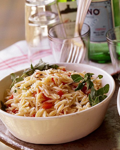 Orzo with Plum Tomatoes and Oregano- used rice instead of orzo, and ...