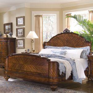 Aico Palais Royale Panel Bedroom Set In Rococo Cognac Ulaski Victoria