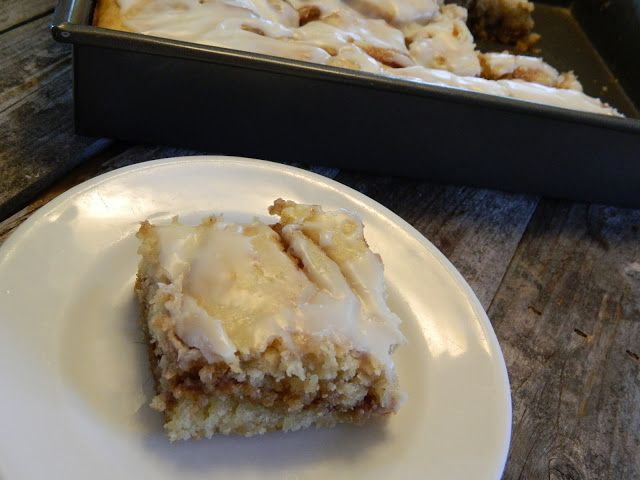The Wednesday Baker: BUTTERY CINNABUN CAKE