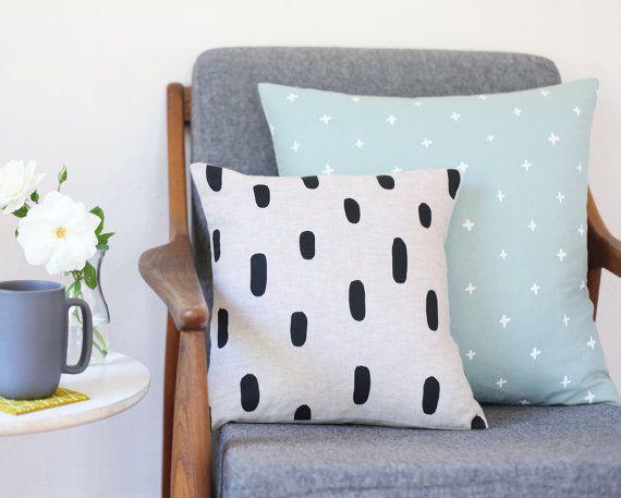 Linen Brushstrokes Pillow // Cotton & Flax