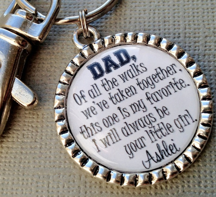 Father of the bride gift personalized walking daughter down aisle