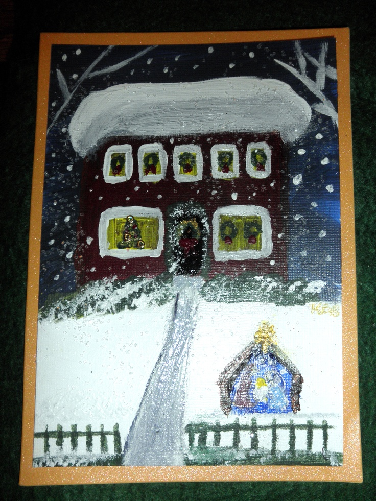 hand painted Christmas cards 2 klb | home decor | Pinterest: pinterest.com/pin/82120393177125307