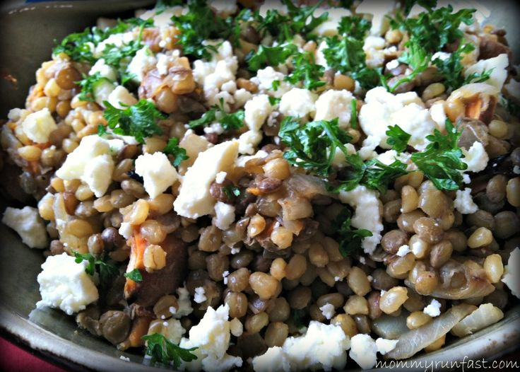 Warm Lentil Wheatberry Salad | #RECIPEFRIDAY | Pinterest