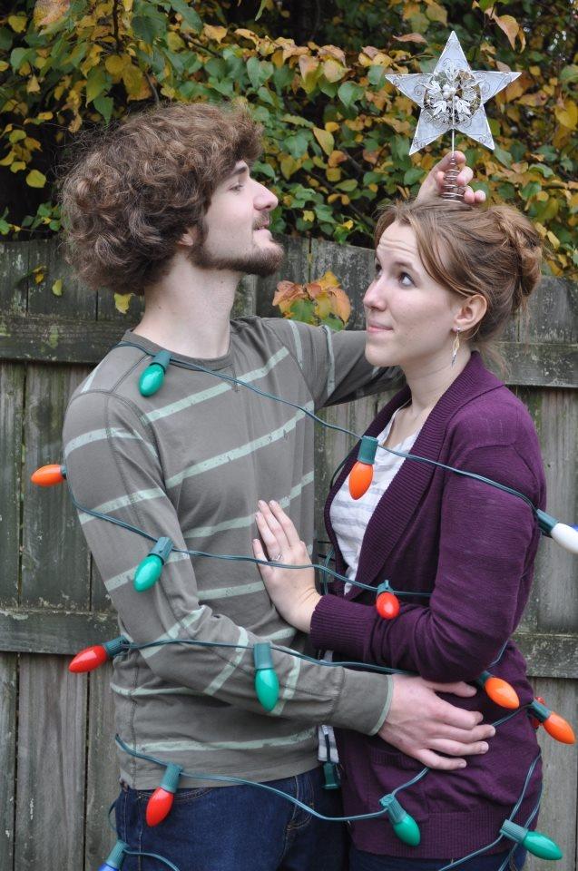 Funny couples christmas card photo ideas