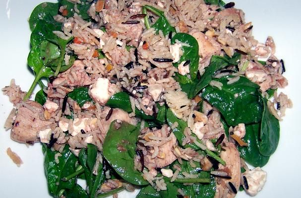 Chicken And Chanterelles On Spinach And Wild Rice Recipe ...