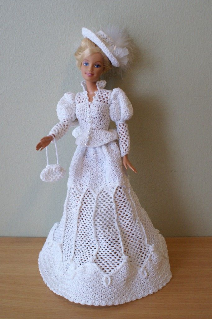 Barbie vestido de crochê