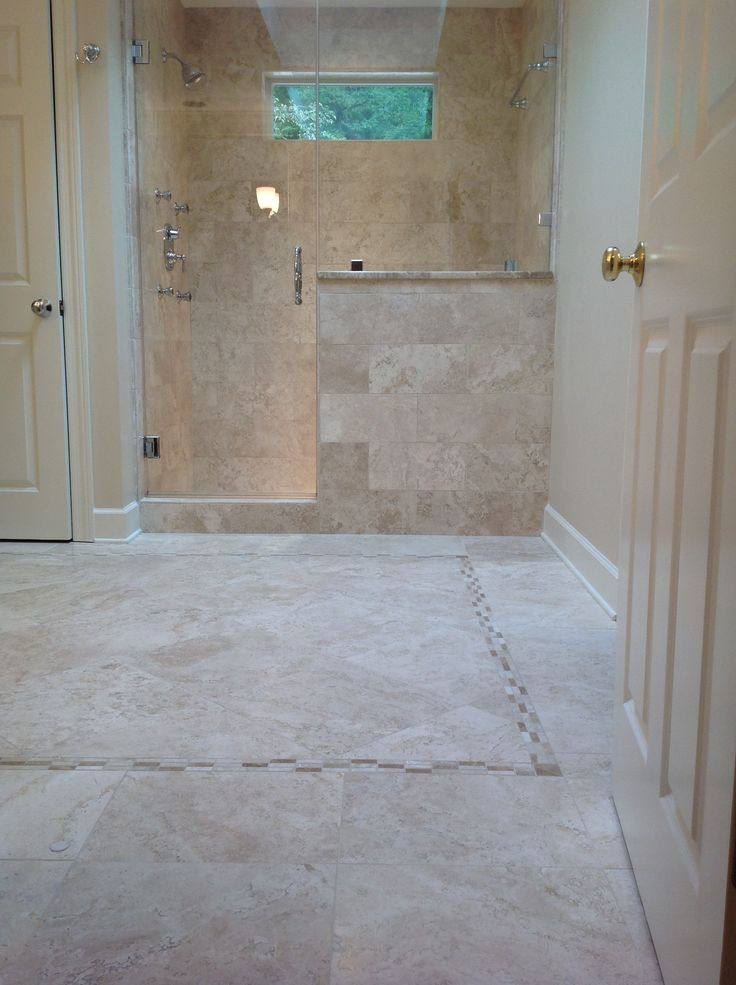 Travertine Tile Bathroom Tile Pinterest