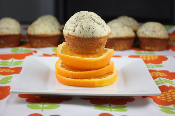 Orange poppy seed Chobani muffins. Moist and protein-packed muffins ...